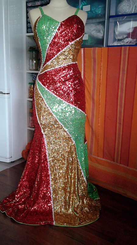 costume strass paillette